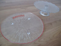 Retro Vintage Glass Dessert Plate and Cake Plate - Quick Sale!
