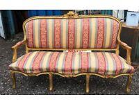 French Gilt Framed Sofa