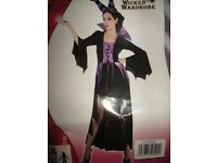 MALEFICENT STYLE EVIL QUEEN / WITCH FANCY DRESS SIZE 16/18 PARTY OR HEN DO