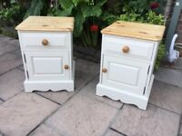 Pair of Pine Painted Bedside Cabinets