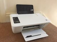 hp deskjet wireless printer with power lead and computer lead