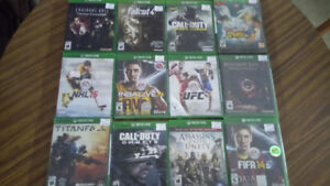 Assorted Xbox One Games from $10.00 and Up