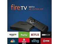 WANTED Amazon fire tv box or new top android box