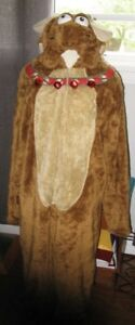 Adult Full reindeer costume BRIEFLY STATED open face L