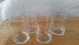 60 votive/candle holders, clear glass, wedding decoration £25