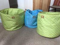 3 toy storage tubs/bags
