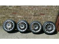 A full set of four Alloys with tyres