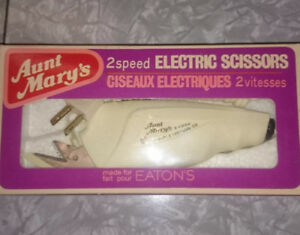 1960s Aunt Mary's Electric Scissors