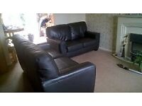2x 3 seater leather sofas nearly new