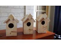 handmade pine bird houses