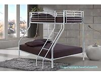 New Trio Sleeper Metal Bunk Bed w Dual-Sided Semi Ortho Mattres Call Now