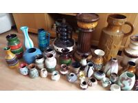 Large lot of west german pottery, fat lava, collector, carboot or market.