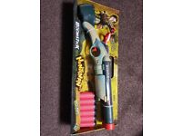 Nerf style boomstick foam darts.