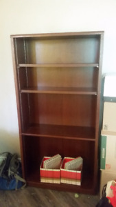 Solid Wood Bookshelf adjustable shelves