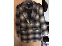 Women's grey check coat, New Look, size 12