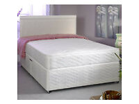 EXCLUSIVE SALE! Free Delivery! Brand New Looking! Double (Single+King Size) Bed & Economy Mattress
