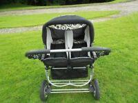 Baby Merc Twin Stroller/Pushchair
