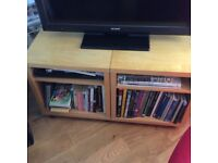 Ikea tv stand - adjustable shelves, could be separated into two small units