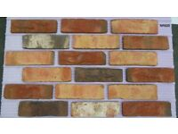 Brick tiles (slips); Rustic Moorland;, yellow red/black/ white, ref 620NF Hand molding