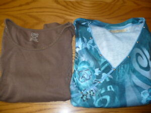 Lot of 2 Ladies Size Small Tops