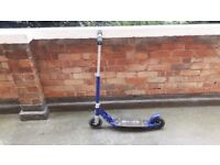 Micro Scooter blue in great shape. Barely used/9 months old