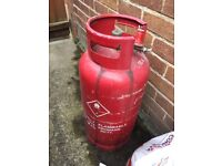 Full Cheshire 19kg propane gas bottle with connector