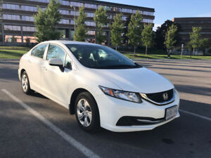 2015 Honda Civic LX - Cam, Bluetooth, Winter tires, Only 32K KM