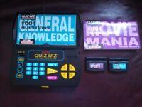 Radica I-Racer, virtual vision game with box 1999 & Quiz Wiz electronic game 2 cartridges 2 books