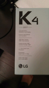 Brand new LG K4 with unlock code