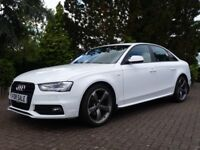 Audi A4 A4 2.0 TDI S-LINE BLACK EDITION 177PS (WHITE) 2104/14 (white) 2014