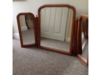 Younger Cherrywood Triple Mirror