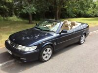2003 Saab 9-3 Turbo convertible-March 2018 mot-great summer value
