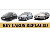 Renault Keycard Replacement service 24/7