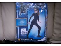Catwoman Child Costume, Medium 5-7 year, includes Jumpsuit with boot tops, belt, eyemask & headpiece