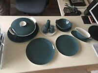 Poole Pottery Contour, Dinner Service [Used - Excellent] [Blue Moon/White]