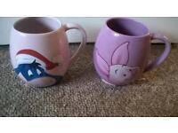 eyore and piglet mugs
