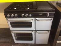Silver new home 80cm dual fuel cooker grill & oven good condition with guarantee