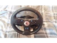 PS2 Steering Wheel and Pedals