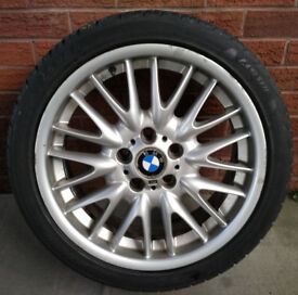 "BMW 18"" ALLOY WHEEL RIM TYRE 18 INCH MV1 E46"