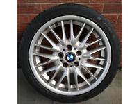 "BMW 18"" ALLOY WHEEL RIM TYRE 18 INCH MV1 E46"