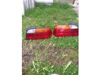 bmw e36 rear lights pair