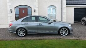 Mercedes C220d AMG Sport 125 Blue Efficiency - Facelift Model - Dec 2011 - fully loaded