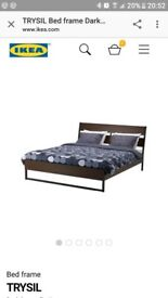 Used IKEA Trysil Double Bed & Protectors
