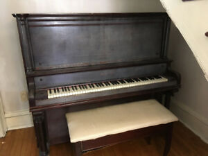 Upright Mason and Risch Piano