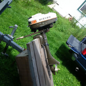 Antique 3 1/2 HP Outboard for parts or restoration