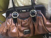 River Island Leather Style Brown Handbag