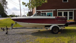 1989 Thunder Craft Bow Rider and Trailer