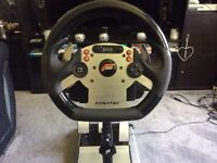 Fanatec Racing Package csr Wheel and pedals inc stand Bargain, Good Condition.