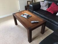 SOLID OAK Coffee Table & 2 x Side Tables