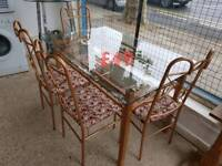 glass dining table and chairs free delivery in derby